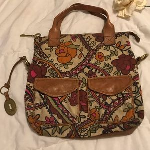 Fossil floral tote
